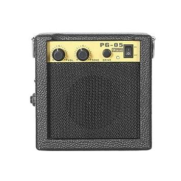 Mini Amplificador de guitarra Amplificador de guitarra, 3 pulgadas Accesorios de guitarra para guitarra acústica