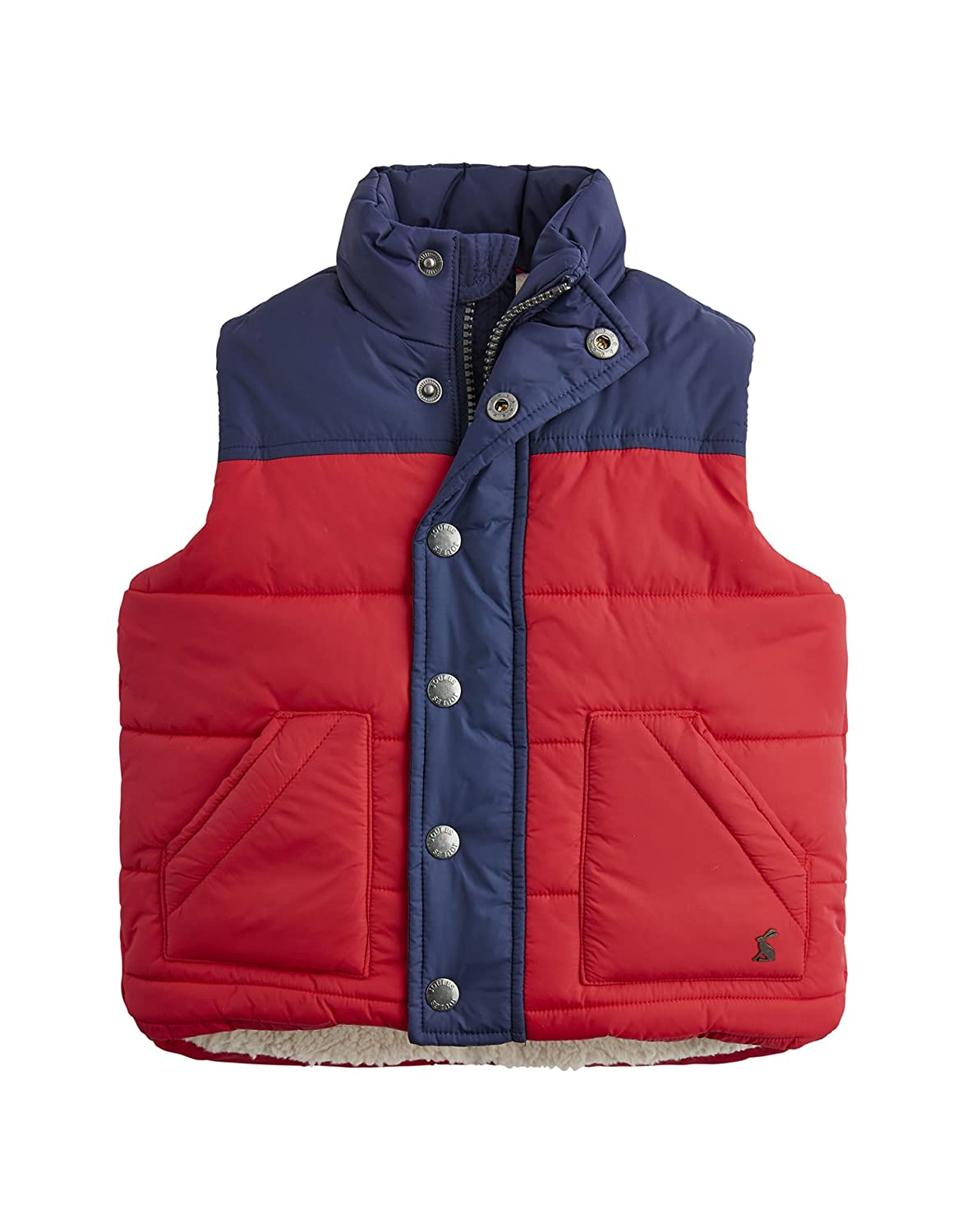 Joules Fleece Lined Padded Gilet - Red