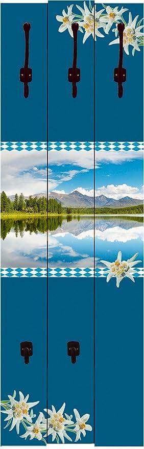 Artland de Madera de 3 Paneles con Hierro Fundido Ganchos ...