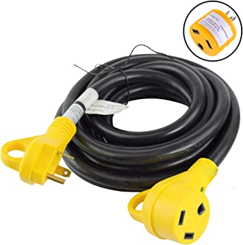 Leisure Cords 15 Ft 30 Amp Rv Power Extension Cord With Led Power Indictor 30 Amp Male To 30 Amp Female Standard Plug 30 Amp 15 Foot Amazon Com