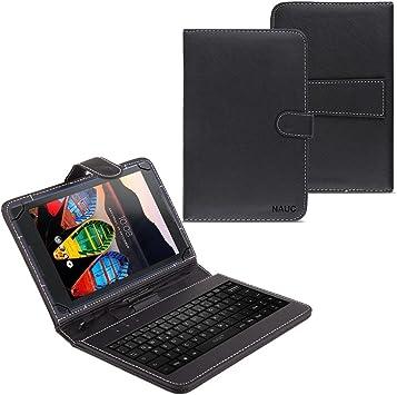 NAUC Funda para Tablet Lenovo Tab 3 8 móvil USB Keyboard ...
