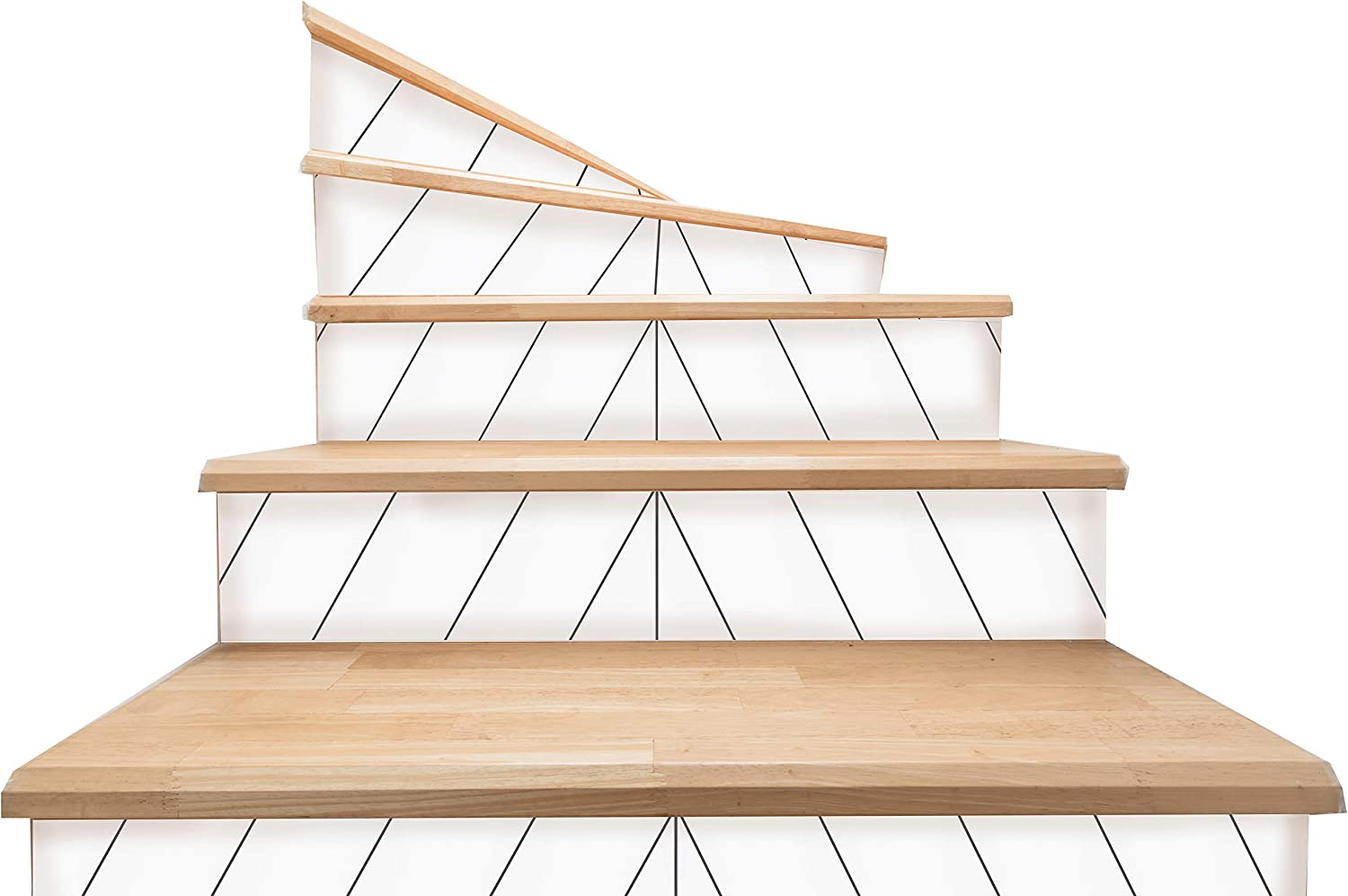 shopping sold out Bleucoin Monaco Stair Riser Peel and Adhe Decal Vinyl Self Stick