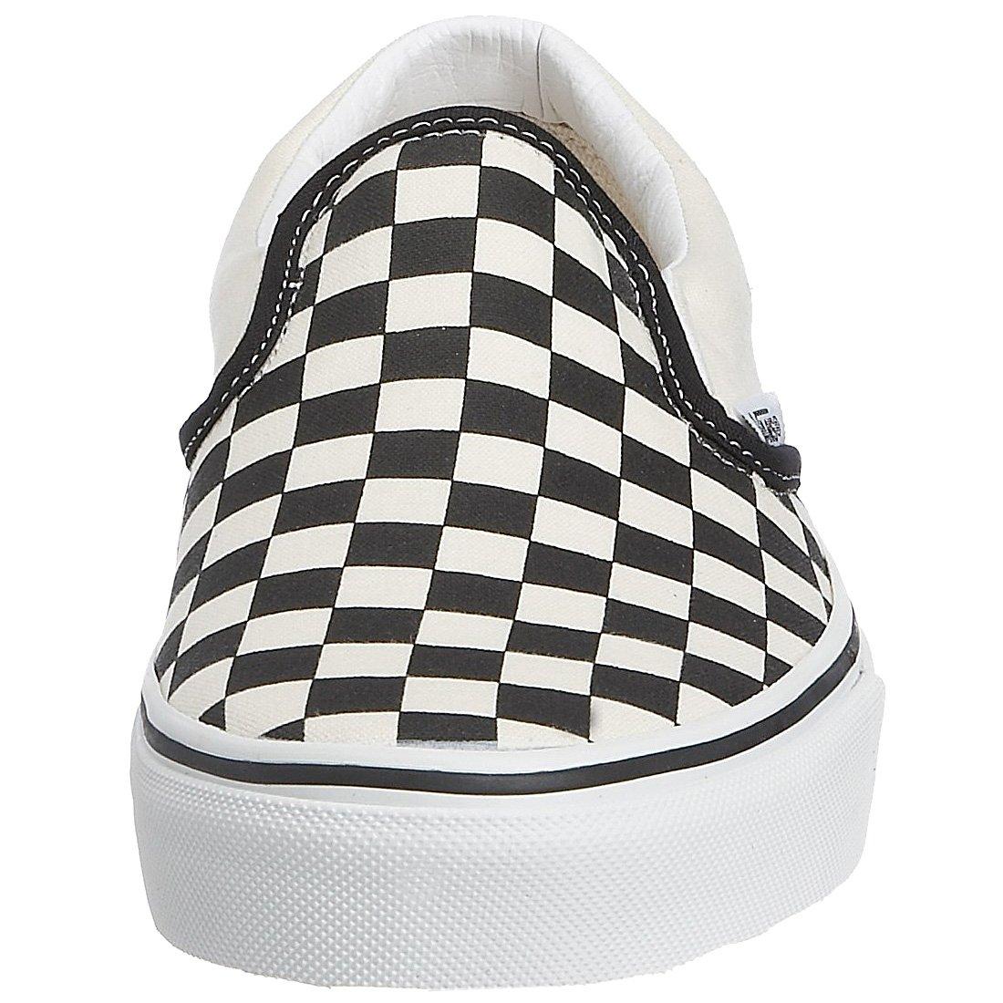 Vans Schwarz Unisex-Erwachsene Classic Slip-on Niedrig-Top, Weißszlig;, D(M) Schwarz Vans (schwarz and Weiß checker/Weiß) 60b8a5