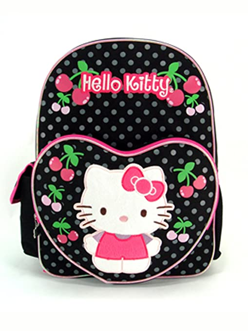 c25464bc5f Image Unavailable. Image not available for. Color  Sanrio Hello Kitty  Backpack - Black ...