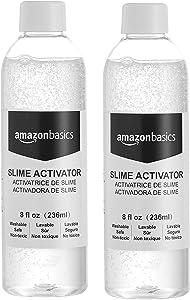 AmazonBasics Glue Slime Activator Solution, 8-oz- Great for Making Slime, 2-Pack