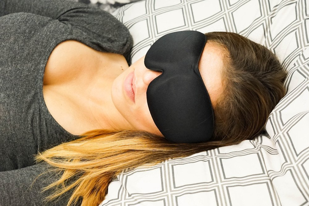 [TOP RATED] Sleep Mask with Earplugs PREMIUM Quality Contoured Eye Mask - Lightweight With Adjustable Strap - Blocks The Light Completely - Best For Travel, Insomnia or Quiet Night Sleep by SleePedia