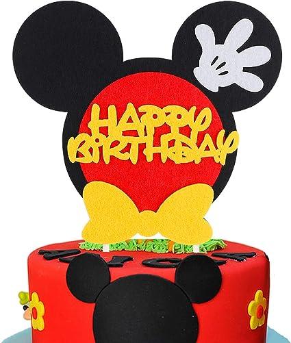 Peachy Amazon Com Beyumi Mickey Inspired Birthday Cake Topper Happy Funny Birthday Cards Online Elaedamsfinfo