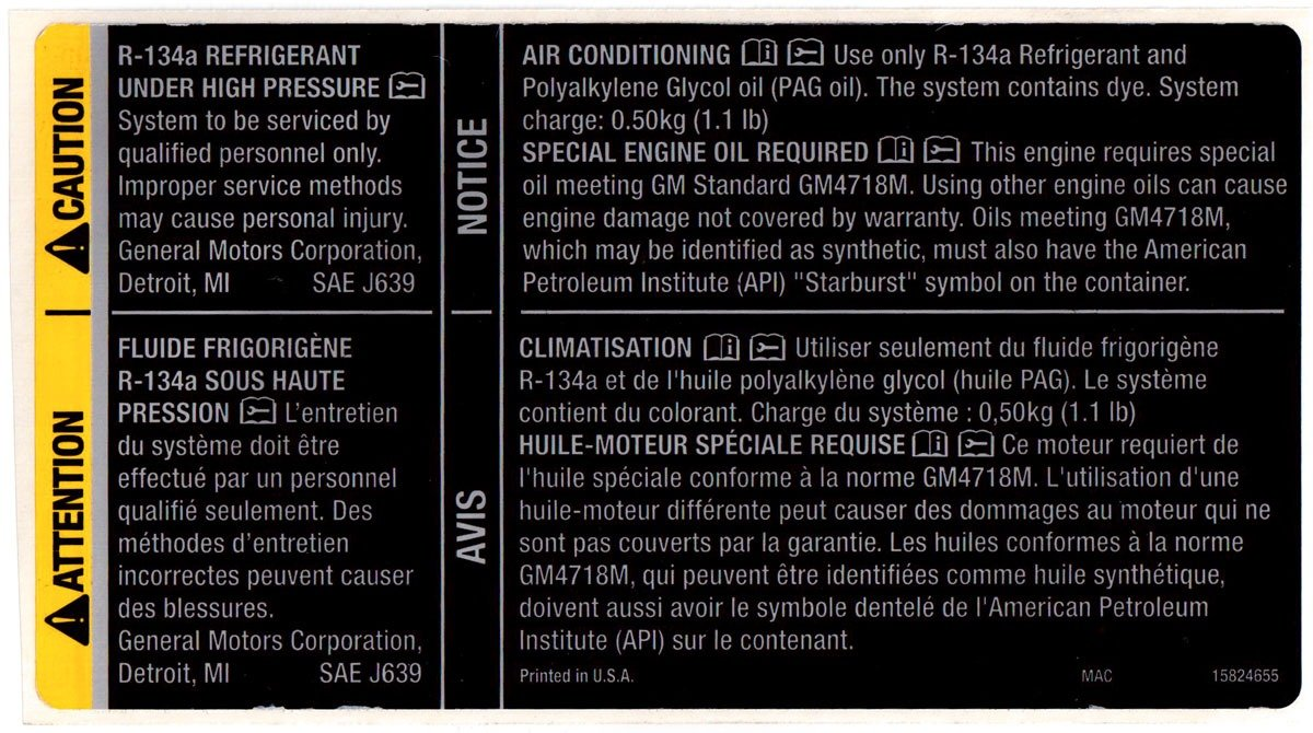 Amazon com: Genuine GM OEM - Engine Oil & Air Conditioning