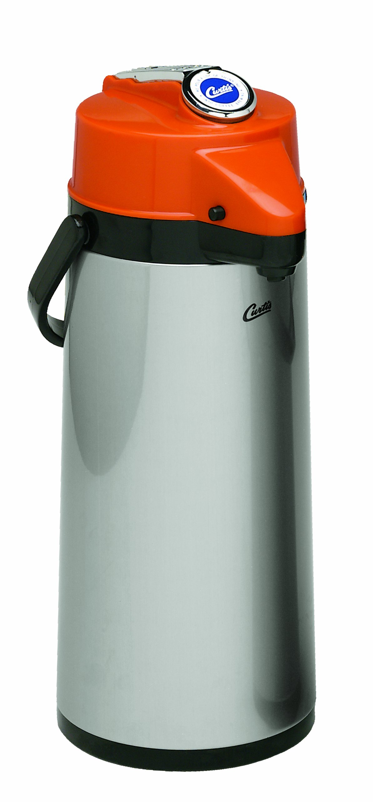 Wilbur Curtis Thermal Dispenser Air Pot, 2.2L S.S. Body Glass Liner Lever Pump, Decaf - Commercial Airpot Pourpot Beverage Dispenser - TLXA2201G000D (Each) by Wilbur Curtis (Image #1)