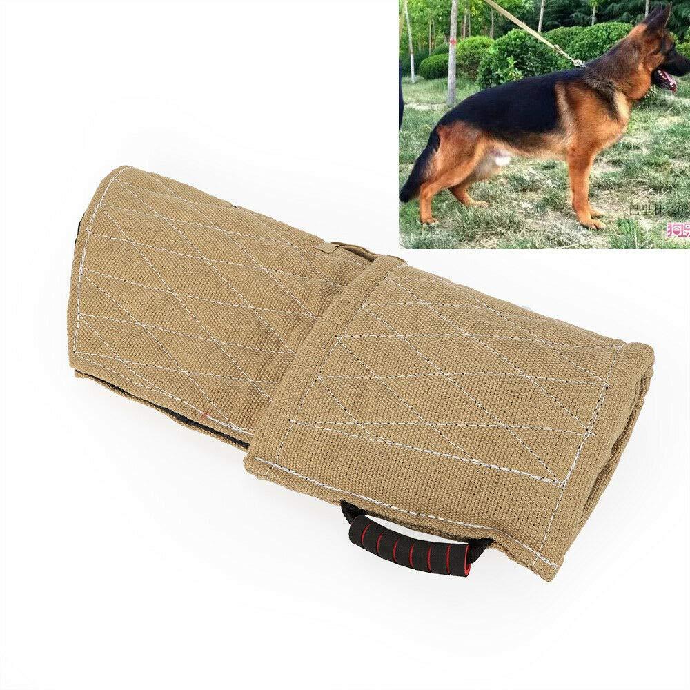 Dog Training Bite Sleeve, Durable Jute Dog Training Bite Arm Sleeve Arm Protection Tub Dog Bite Chew Training Arm Sleeve Training Young Puppy Medium Size Dog (USA Stock) by SHZICMY (Image #1)