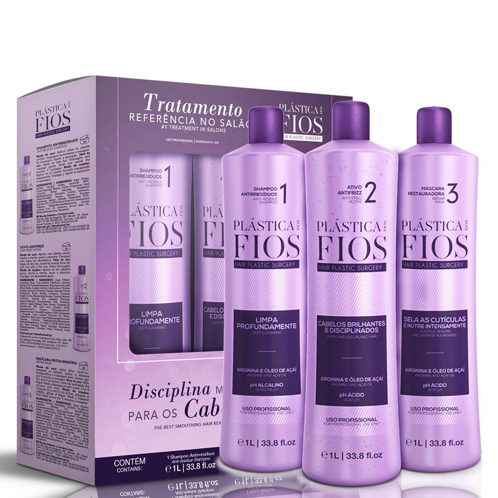 Cadiveu Plastica dos Fios Brazilian Keratin New Box kit hair treatment 3x1L 34oz Br Beauty