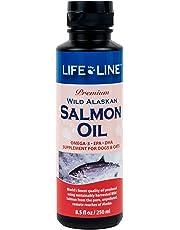 LifeLine Wild Alaskan Salmon Oil for Dogs and Cats, 8-1/2-Ounce