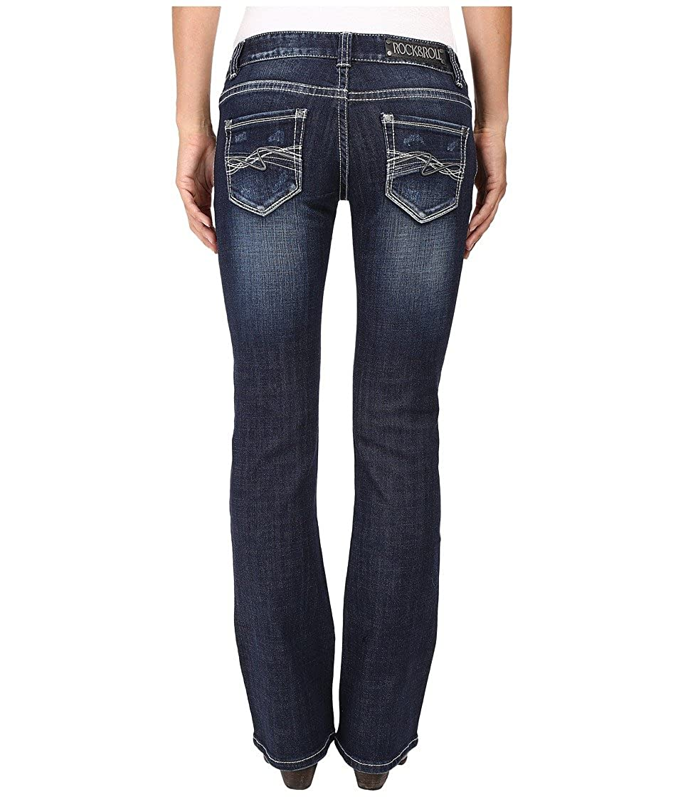 Rock and Roll Cowgirl Womens Low Rise Bootcut in Dark Vintage W0-8461