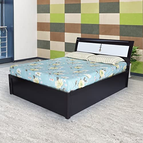king size bed metal royaloak grape king size bed with hydraulic storage black and white storage buy online at