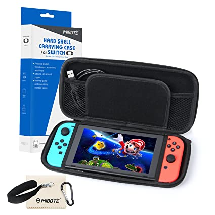 Amazon.com  MIBOTE Travel Carrying Case Nintendo Switch EVA Hard ... cf92530872