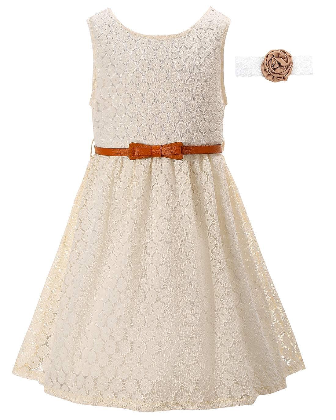 7260d2b294ce8 Girls Lace Dress Kids Casual Flower Girl Dress