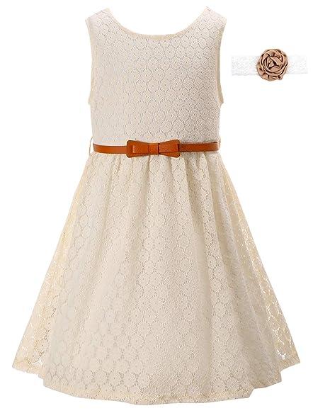 Girls Lace Dress Kids Casual Flower Girl Dress