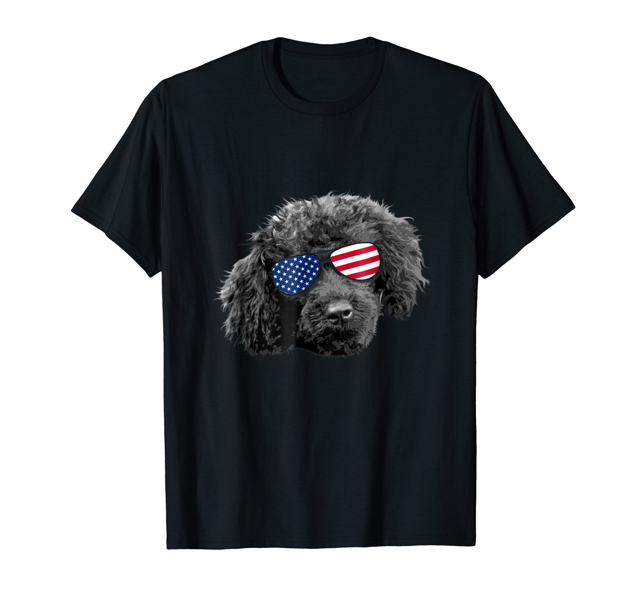 Patriotic Toy Poodle Dog Merica T-Shirt 4th of july