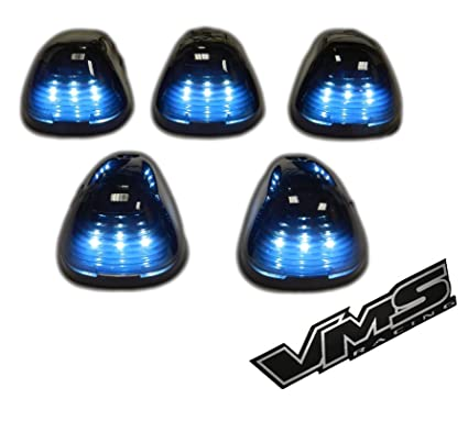 Vms Racing Cab Roof Lights Markers  Piece Pc Covers With Base In Smoked Lenses Assembly