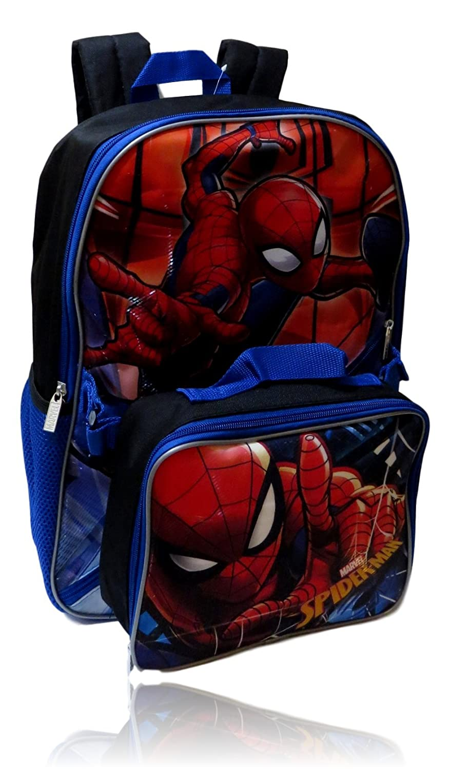 Marvel Spiderman Backpack W/ Detachable Insulated Lunch Box