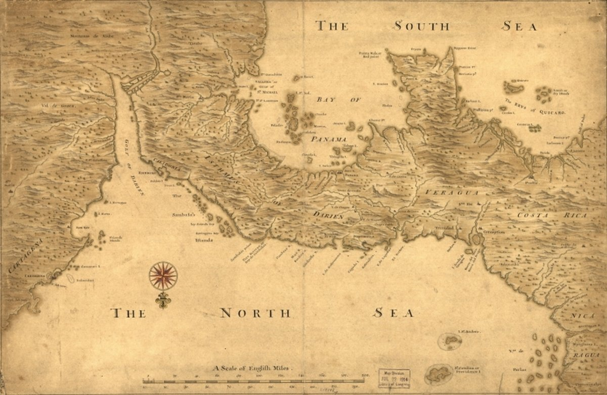 Amazon.com: 1700s map: Panama Isthmus of Panama from ...