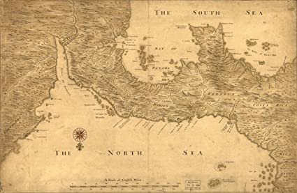 Amazon.com: 1700s map: Panama Isthmus of Panama from Cartagena to ...