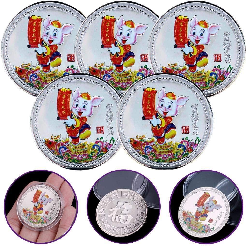 2019 Pig Souvenir Coin Chinese Zodiac Commemorative Coin Lucky Gifts Silver CE