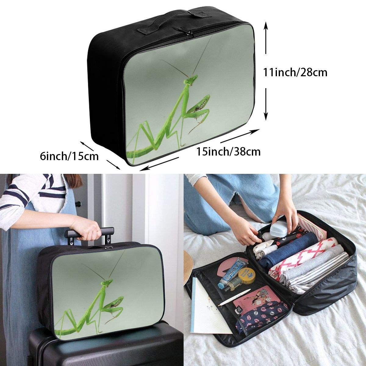 Lightweight Large Capacity Portable Duffel Bag for Men /& Women Green Praying-mantis Travel Duffel Bag Backpack JTRVW Luggage Bags for Travel