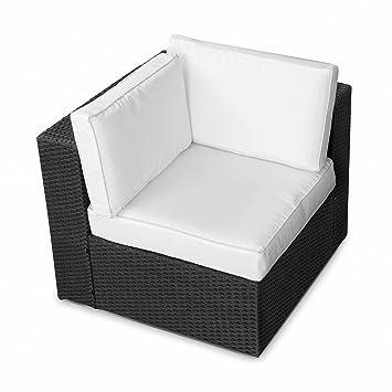 Amazon De Xinro 1er Polyrattan Lounge Eck Sessel Gartenmobel