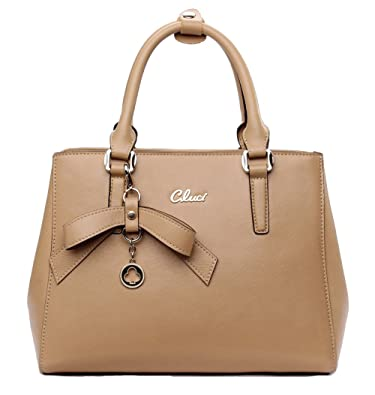 Cluci Leather Designer Handbags Tote Satchel Shoulder Bag Purse ...