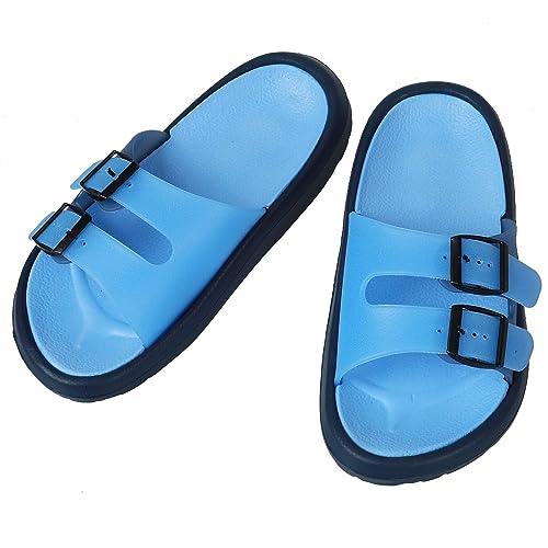 5d1f166e2 GreatCase Toddler Little Kid Walking Sandals Non-Slip Beach Shoes  Lightweight Shower Pool Slippers Blue