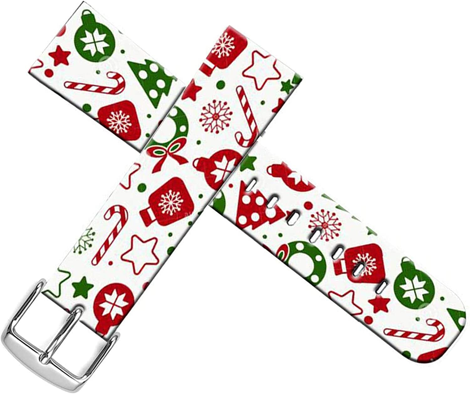 Strap Compatible for Apple Watch Series SE/6/5/4/3/2/1 38mm/40mm Sport - ENDIY Designer Leather Band Replacement for Iwatch Xmas Christmas Theme Design Pattern Red Colorful Christmas Print