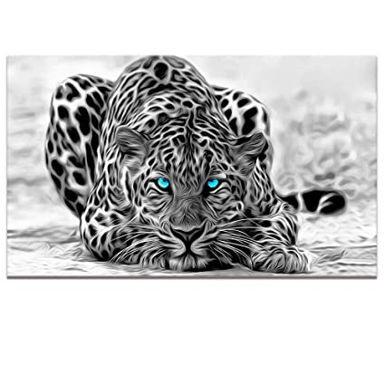 Black and white animal canvas wall artabstract leopard canvas prints with frameattractive