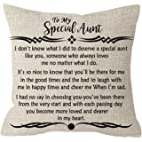 ITFRO Great Aunt Gift from Niece Nephew to My Special Aunt Body Cream Burlap Throw Pillow Case Cushion Cover Couch Sofa Decor