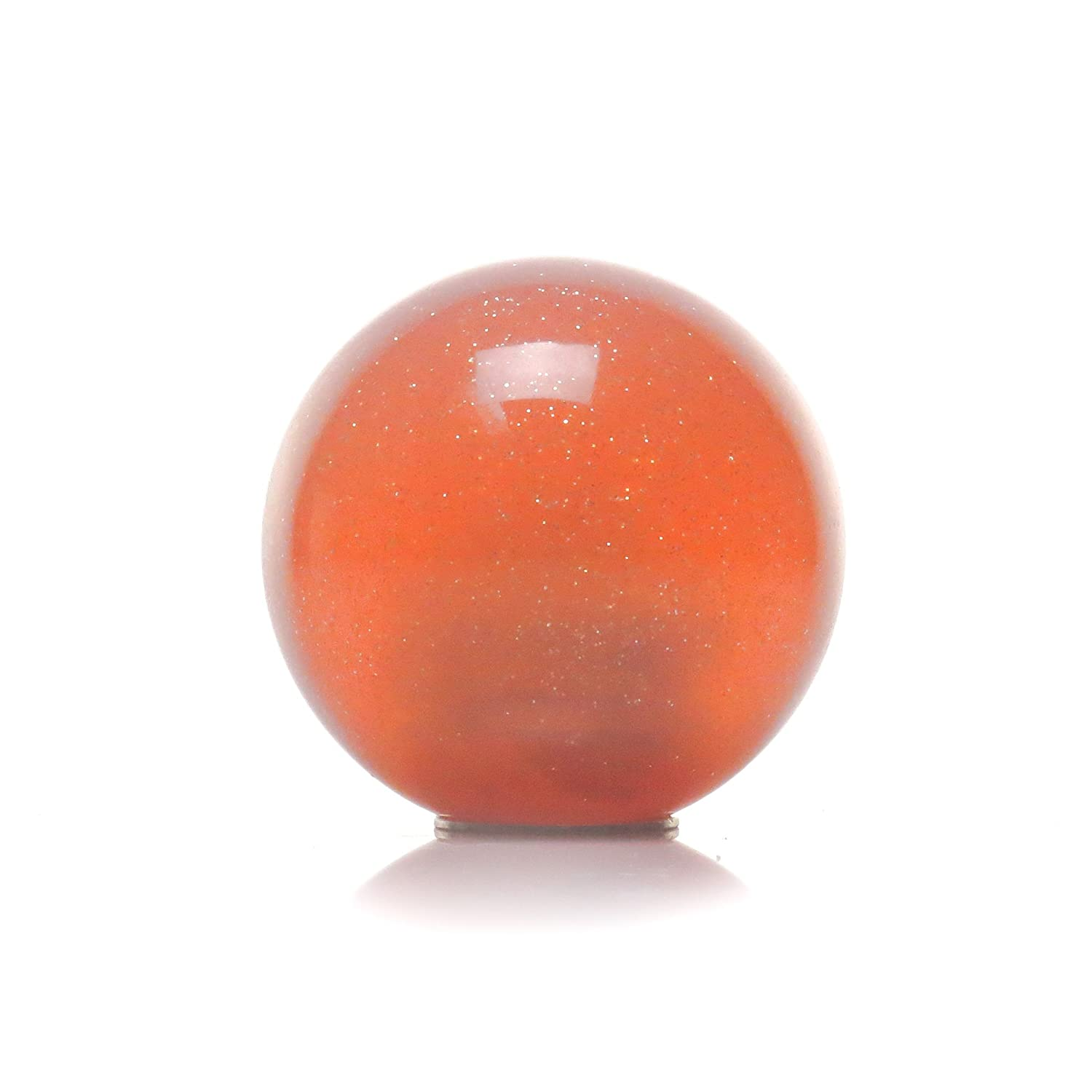 American Shifter 37472 Orange Metal Flake Shift Knob with 16mm x 1.5mm Insert White Prince Crown
