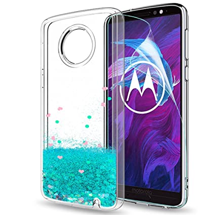 Amazon.com: Moto G6 Plus con purpurina funda con Protector ...