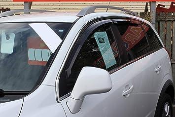 Amazon.es: Para Chevrolet Captiva 2007 + Deflectores de viento Set (4 piezas) (ahumado)