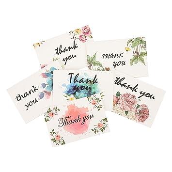 Amazon.com: 60 tarjetas de agradecimiento a granel – Notas ...
