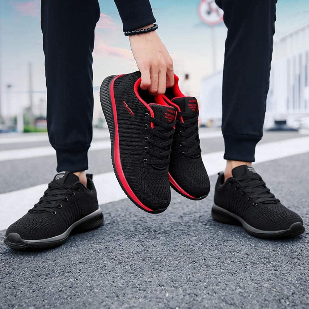 WFQGZ Chaussures Spéciales pour Hommes Plus Velours 46 Chaussures De Sport Et De Loisirs pour Jeunes 48 Respirantes 9255 black red-plus velvet