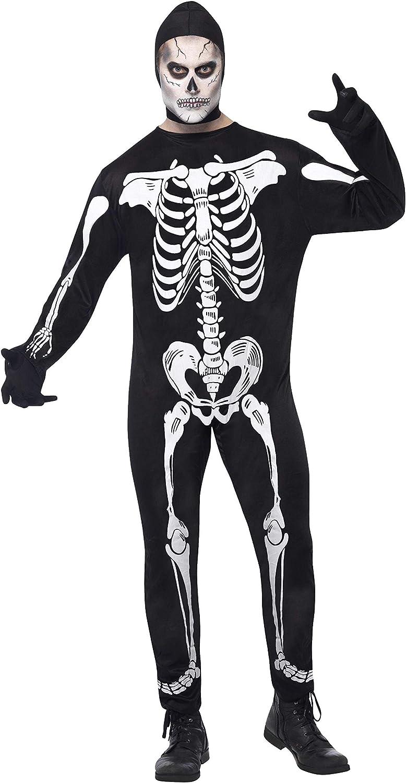 Smiffys-23032L Halloween Disfraz de Esqueleto de Cuerpo Entero ...