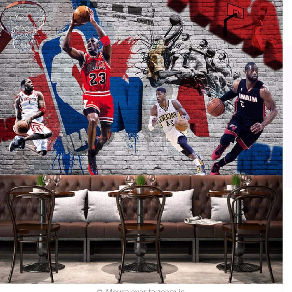 Sshssh Basketball Sport Fototapete Wandbild Kinderzimmer Tapeten 3D Wohnzimmer Bar Wohnkultur Vinyltapete-350X250CM