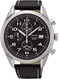 Seiko Men's Chronograph Quartz Watch with Leather Strap SSB271P1