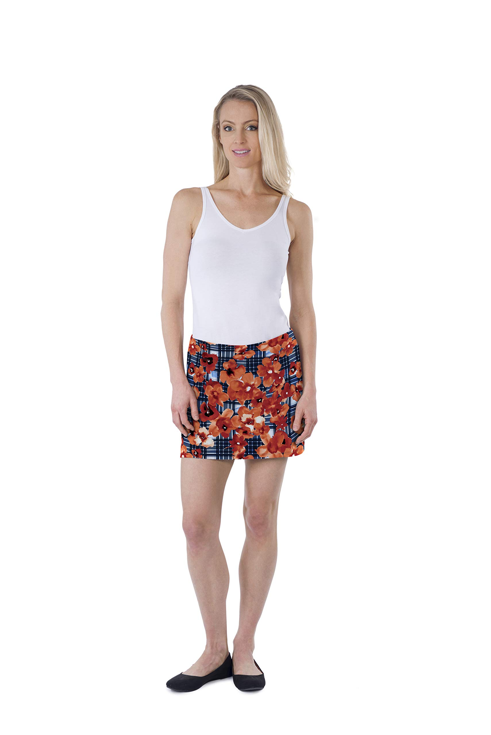 Colorado Clothing Women's Everyday Skort (Floral Gifted, XS) by Colorado Clothing