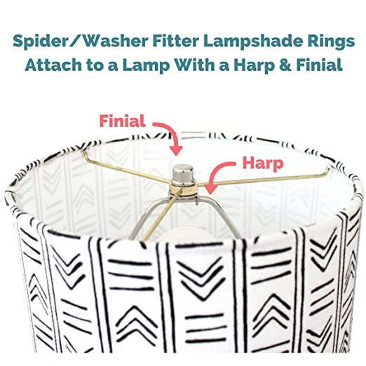 Lamp shade ring set to make a diy drum ring lamp shade us style lamp shade ring set to make a diy drum ring lamp shade us style spider fitter that connects to lamp harps strong galvanized steel ring for lamp shade greentooth Image collections