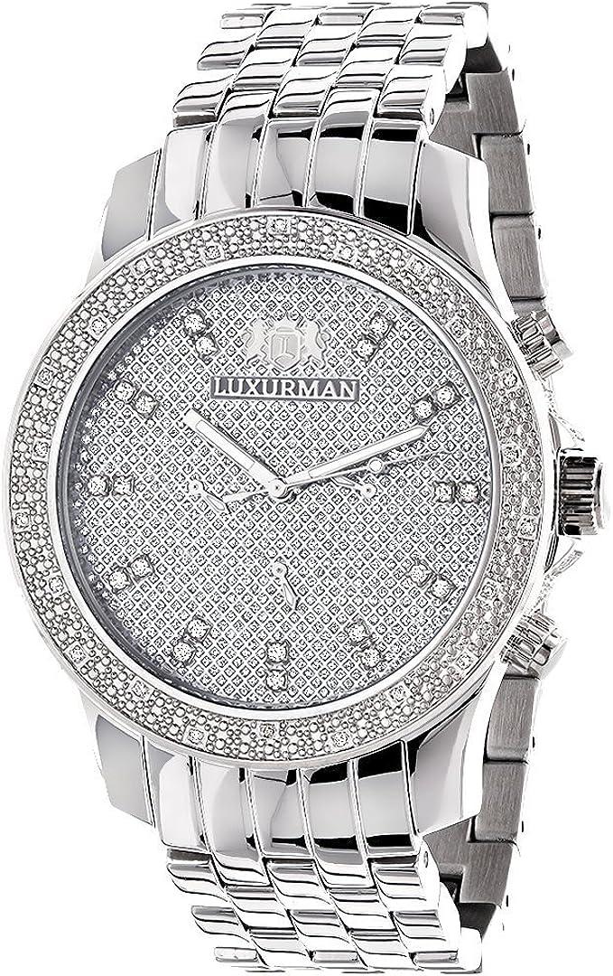 Luxurman Mens Diamond Watch 0.25 ct