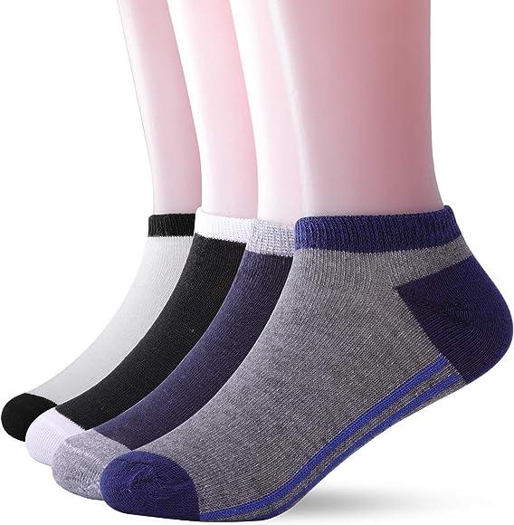 Lightning Deals RoshMel 12 Pairs Boys Socks Size 4-7 Junior Cotton Socks Set