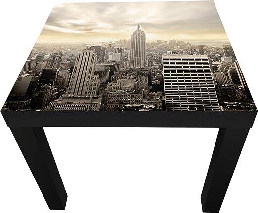 wandmotiv24 Tabla Nueva York Skyline Ver de Mesa de diseño M0221 ...