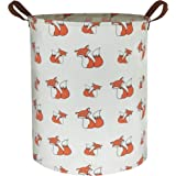 HIYAGON Large Storage Baskets,Waterproof Laundry Baskets,Collapsible Canvas Basket for Storage Bin for Kids Room,Toy Organize