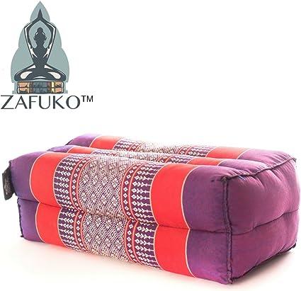 Zafuko Standard Meditation and Yoga Cushion - Purple/Red