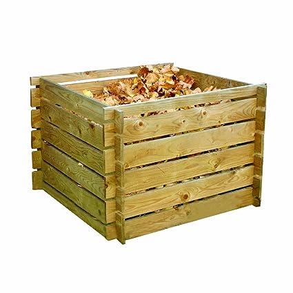 forestfoxtm Jardín para compost (Madera reciclaje residuos Tacho Basura de almacenamiento de compostaje